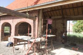 Verbouwingswerken aan schuur